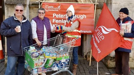 The urgently-needed items for families and single people in crisis was handed over to local co-ordin