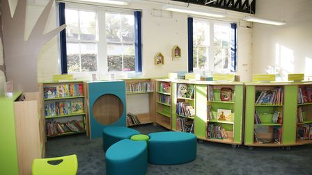 St John's Primary School's new library. Picture: DANNY LOO