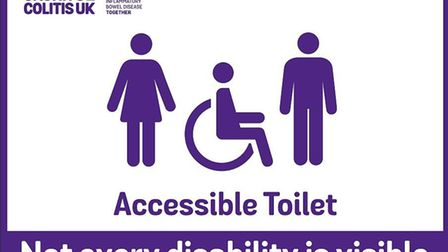 The sign that the charity would like all public toilets to adopt. Picture: Crohn's & Colitis UK