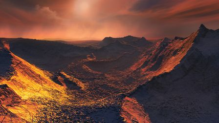 Artist's impression of the Barnard star b's surface. Picture: ESO/M. Kornmesser