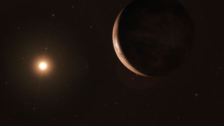 Artist's impression of Barnard's star b viewed from space. Picture: ESO/M. Kornmesser