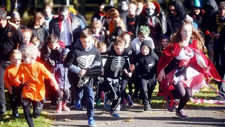 More than 100 runners dressed in gory outfits spooked out Wisbech Park for the first Halloween fun r