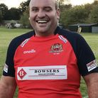 Wisbech player-coach Nico 'the Hippo' Steenkamp was awarded the Wisbech Round Table man-of-the-matc