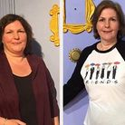 Barbara Atkins before (left) and after (right) her weight loss journey. Picture: Supplied.