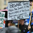 Protesters in Bristol are fighting to defend our democracy. Photograph: Ben Birchall/PA Wire.