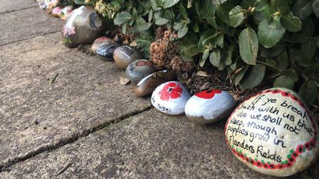 The #WGCRocks in Howardsgate to comemmorate the centenary of World War I. Picture: Mia Jankowicz