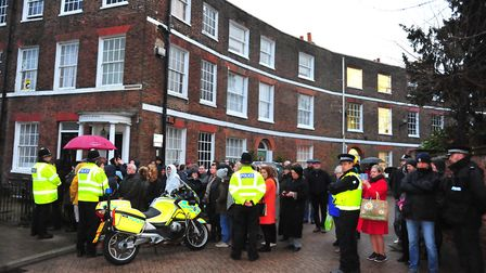 Prince Charles and The Duchess of Cornwall visiting Wisbech. Picture: HARRY RUTTER