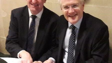 Hertsmere MP Oliver Dowden met with Rail Minister Andrew Jones in a bid to extend the Oyster network