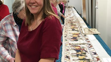 An engaging talk into the wonder and work behind creating a replica of the Bayeux Tapestry was held