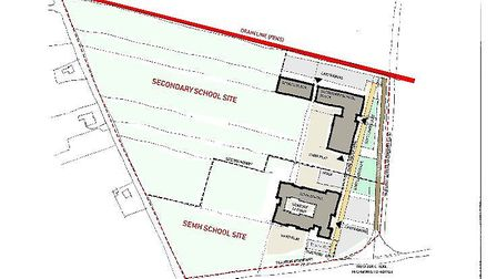 Fenland Education Campus. Plans for new secondary school in Wisbech which is due to open in 2021