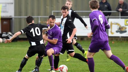 Action from Wisbech St Mary's match with Swaffham Town last Saturday. Picture: IAN CARTER