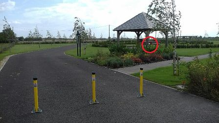 Fountain stolen from cemetery memorial garden in 'shameful' act in Sutton Bridge. It is situated in