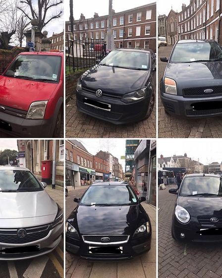 Police in Wisbech reacted to complaints of illegal parking with a blitz of the town on Friday mornin