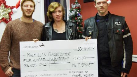 A family-run Guyhirn coffee shop that raised £950 in memory of two bikers - who tragically died just