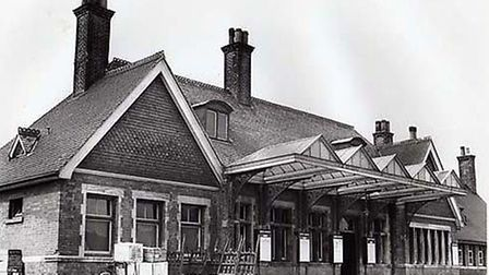 Wisbech Railway Station pictured in its heyday.