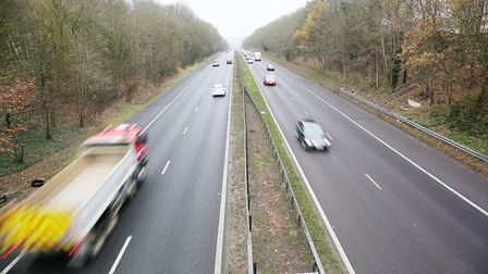 Looking south down the A1(M) between Junctions six and seven. Picture: DANNY LOO