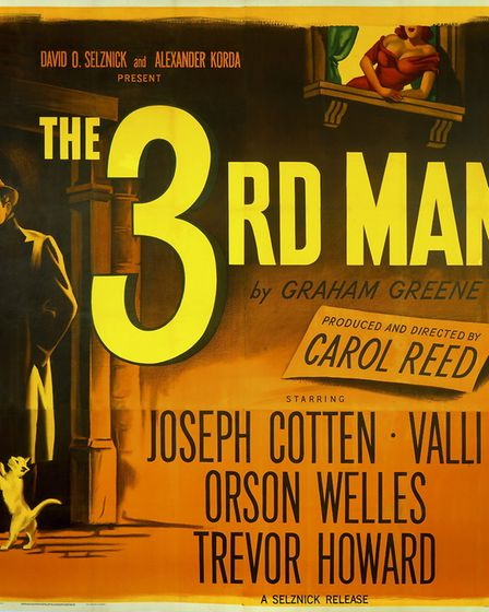 A poster for Carol Reed's 1949 thriller 'The Third Man'. (Photo by Movie Poster Image Art/Getty Im