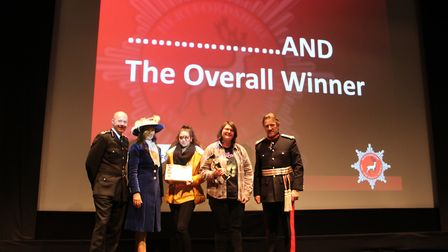 Oaklands College students Hollie Claridge and Evie Gallagher were presented with awards for their sh