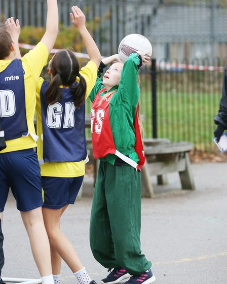 Action from the Hatfield Primary Schools Netball Tournament 2018. Picture: DANNY LOO