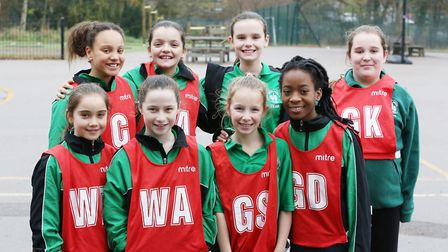 Green Lanes Primary School at the Hatfield Primary Schools Netball Tournament 2018. Picture: DANNY L