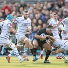 Saracen's Jamie George carries the ball during the Heineken European Champions Cup, pool three match