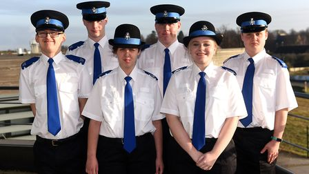 Meadowgate volunteer police cadets. Picture: IAN CARTER