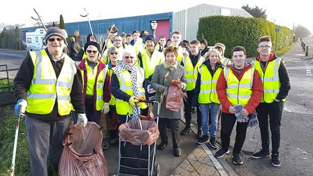 The Wisbech Street Pride team had a surprise on their recent litter pick when they were joined by 15