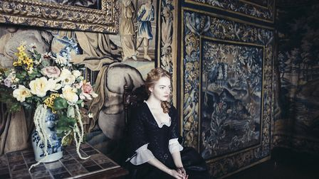 Oscar winner Emma Stone stars in The Favourite, which was filmed at Hatfield House. In this picture