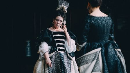'You look like a badger!' Olivia Colman as Queen Anne and Rachel Weisz as Lady Sarah in the film The
