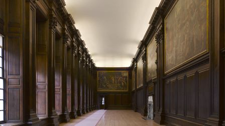 The Cartoon Gallery at Hampton Court Palace was used for filming a number of scenes of The Favourite