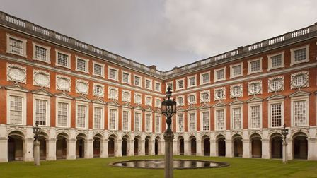 Fountain Court at Hampton Court Palace features in The Favourite scene in which Olivia Colman's Quee