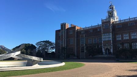 The North Front of Hatfield House. The Hertfordshire stately home was used for filming of Emma Stone