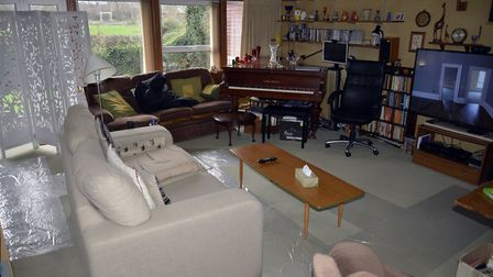 This Hatfield living room was set up as the green room for cast and crew of ITV drama Wild Bill star