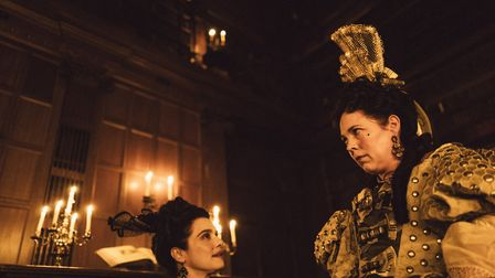 Rachel Weisz and Olivia Colman in The Favourite, which was filmed at Hatfield House. Picture: Fox Se