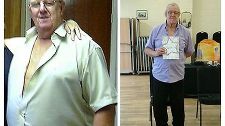 Slimmers in Outwell drop a collective 160 stone. Mike before and after. Picture: SLIMMING WORLD