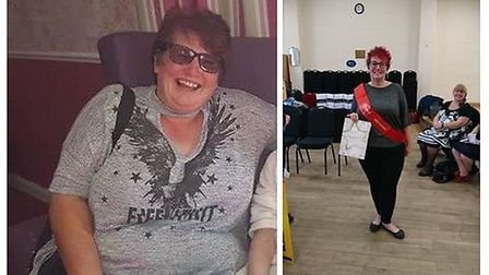 Slimmers in Outwell drop a collective 160 stone. Sharon before and after. Picture: SLIMMING WORLD