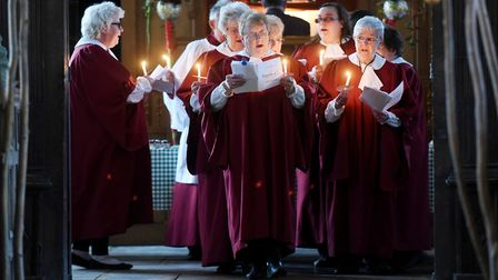 A stunning service of carols by candlelight was held at Walpole St Peter's Church. Picture: IAN CART