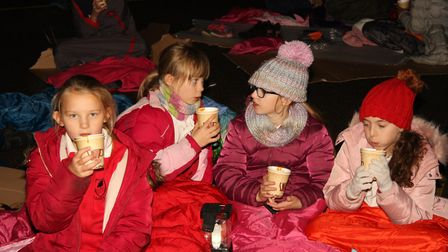 Pupils at Oakmere Primary School in Potters Bar have been learning about homelessness. Picture; Su