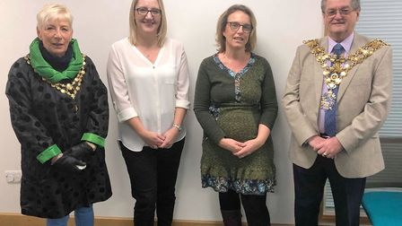 Left to right: Mayoress Janet Tanfield, Rachel Vanhinsbergh, Hayley Snow and Mayor Cllr Peter Human