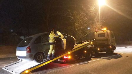 Driver arrested for drug driving in Wisbech. Picture: CAMBS POLICE