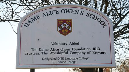 Dame Alice Owen's School in Potters Bar has received a £50,000 funding grant from Hertsmere Borough