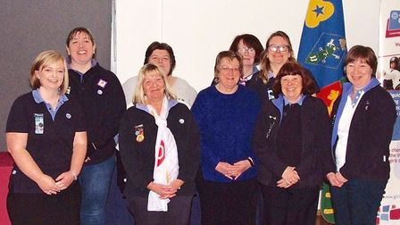 Long service success for Whittlesey Girl Guide leaders. Picture: CONTRIBUTED