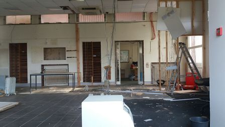 The former Welwyn Garden City post office premises in Howardsgate have been gutted.