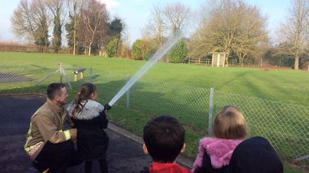Norfolk firefighters visited Tilney All Saints Primary School as they learned all about The Great Fi