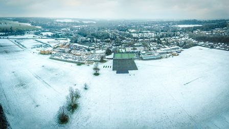 Panorama of Monks Walk taken by drone in January. Picture: Stuart Carnegie
