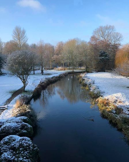 A bright snowy morning at the mill in Lemsford. Picture: Emma Whiteman