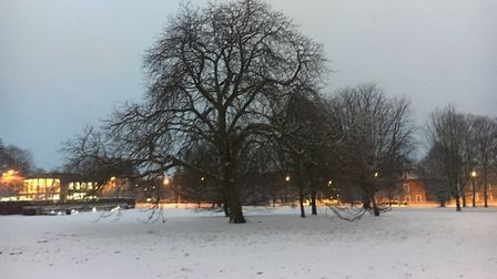Very early morning scene at Campus West, Welwyn Garden CIty. Picture: Mia Jankowicz