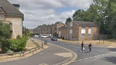The junction of De Havillands Close and St Albans Road West, around where the racially aggravated as