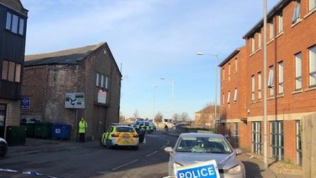 A woman in her 50s was seriously injured when she was hit by a car whilst crossing the road in Wisbe