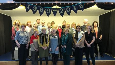 Panshanger Primary teachers and heads past and present celebrated the school's 50th anniversary. Pic